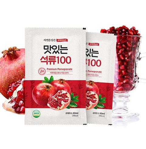 [황토농원] 맛있는 석류100 80mlX30팩