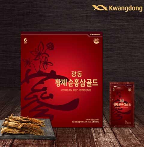 광동 황제순홍삼골드 70ml X 30포 + 쇼핑백