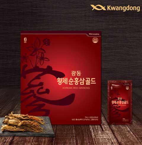 광동 황제순홍삼골드 70ml X 60포 + 쇼핑백